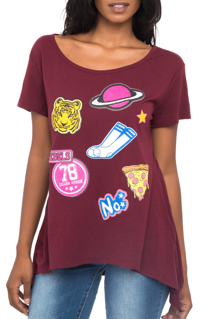 SHORT SLEEVE COLLEGE DAZE GRAPHIC TEE - PROMO 60% OFF