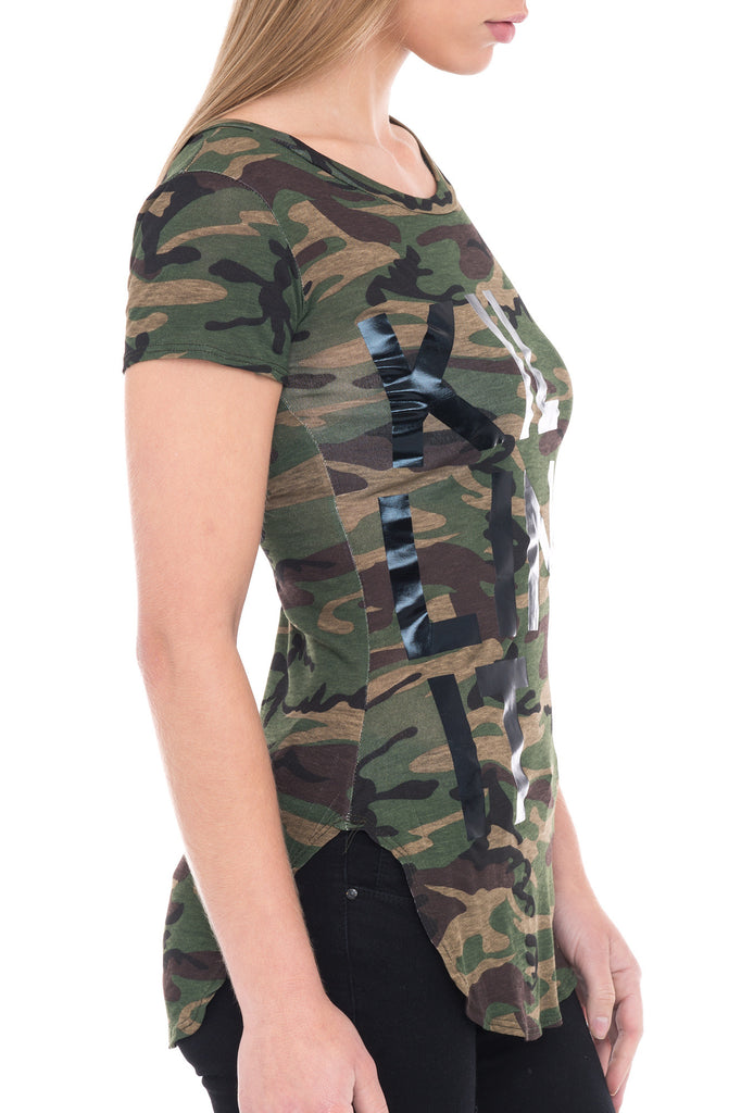 SHORT SLEEVE FORM FITTING CAMO T-SHIRT - SALE