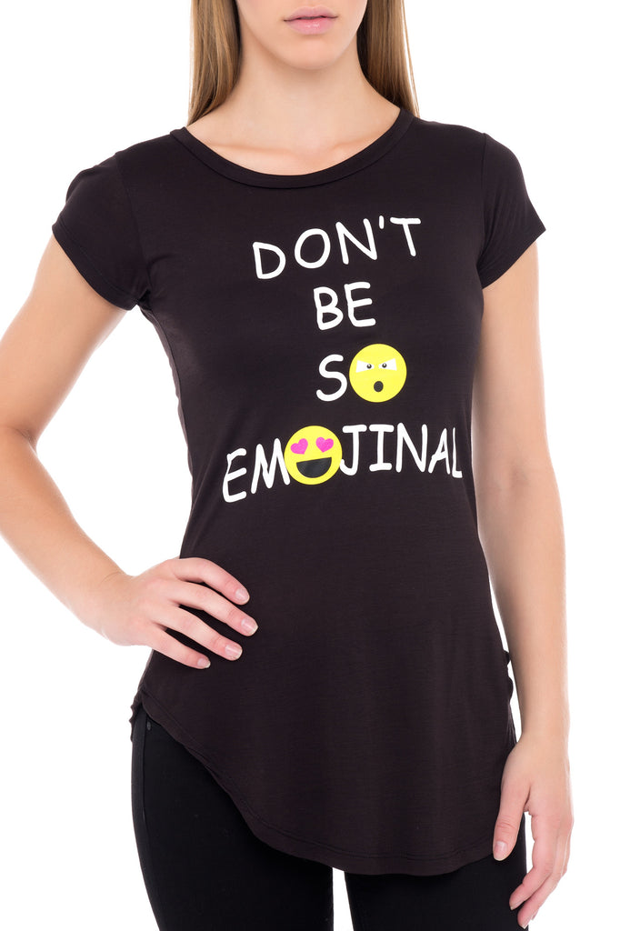 EMOTIONAL GRAPHIC TEE BLACK