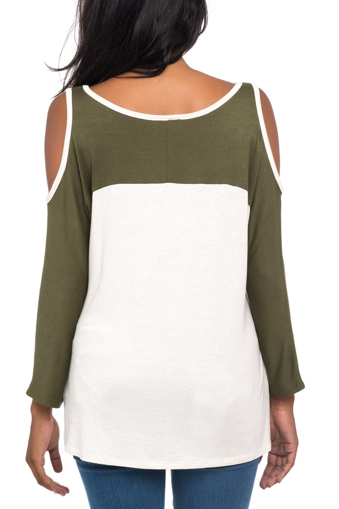 WEEKEND GRAPHIC COLD SHOULDER TOP