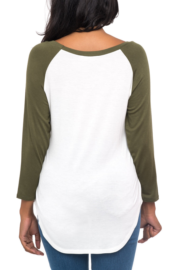 CAMO LEGEND GRAPHIC RAGLAN TEE