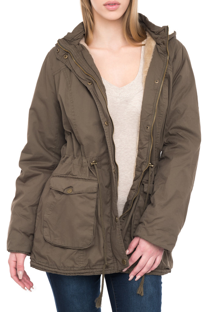 COTTON ANORAK WITH HOOD
