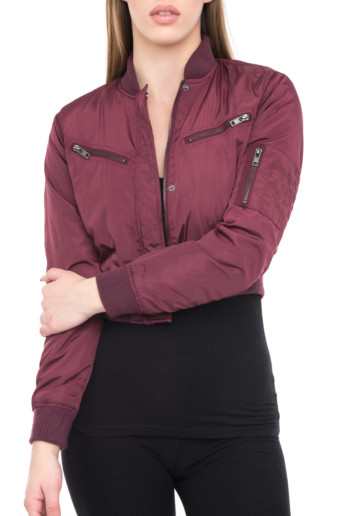 BOMBER JACKET WITH BUST POCKETS