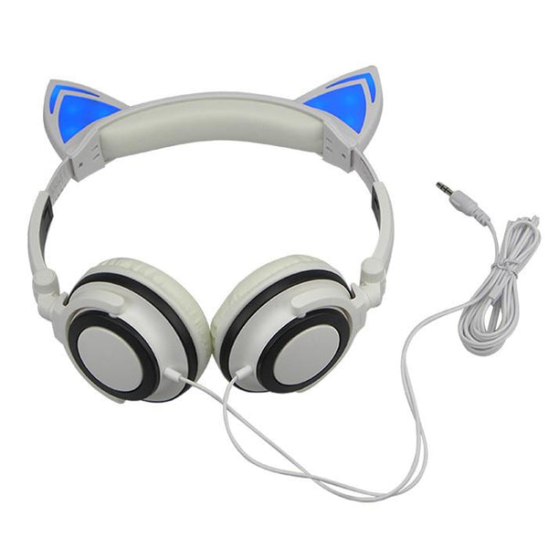 Cat Ear Headphones With Glowing Ears Faraday Science Shop