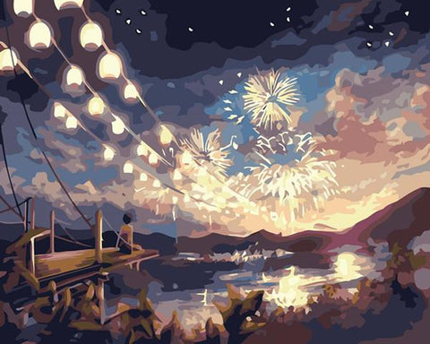 Fireworks on the Lake - Van-Go Paint-By-Number Kit