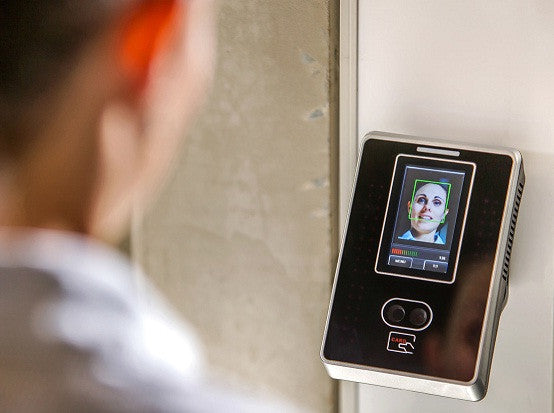 Futuristic way to calculate employee work hours: Face scans time clocks