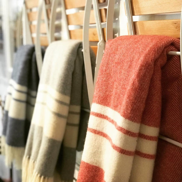 Mt Somers Striped Lambswool Blanket / Throw