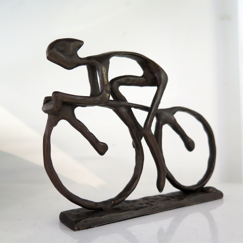 Bronze Sculpture 'The Cyclist'