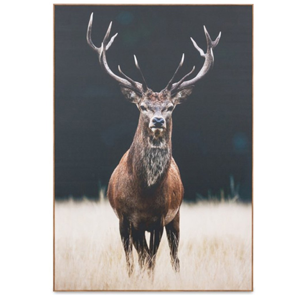 Majestic Beauty Stag Timber Framed Canvas