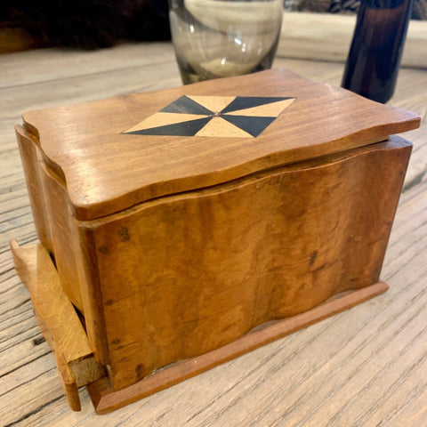 Vintage Walnut Inlaid Cigarette Box