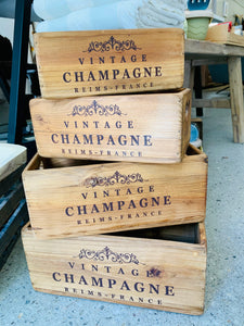 Vintage Champagne Boxes