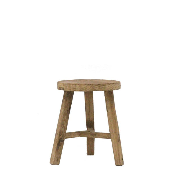 Recycled Elm Stool Round