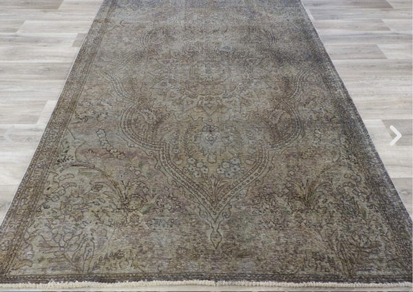 Overdyed Handmade Vintage Persian Rug