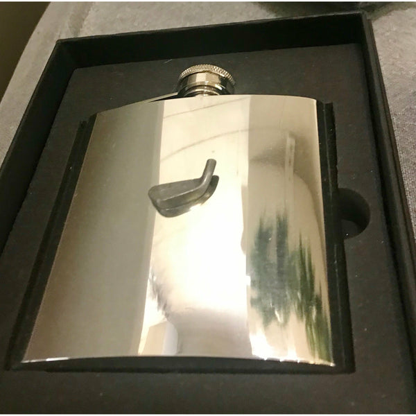 Lifestyle Decorated Stainless Steel Hip Flask
