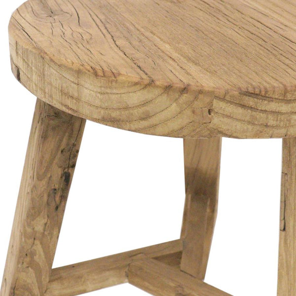 Recycled Elm Stools | Round | Black or Natural