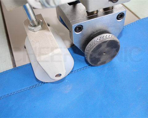 ultrasonic fabric welding& mechanical cutting