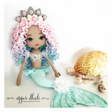 mermaid doll, handmade doll australia, upper dhali