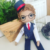 Special Edition - Petite Unique - Personalised Portrait Doll-Bespoke Service - Gold-Upper Dhali