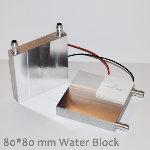 80mm Aluminum Water Cooling Block Heatsink for Peltier