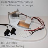 Aluminum Water Cooling Block Heatsink for Peltier
