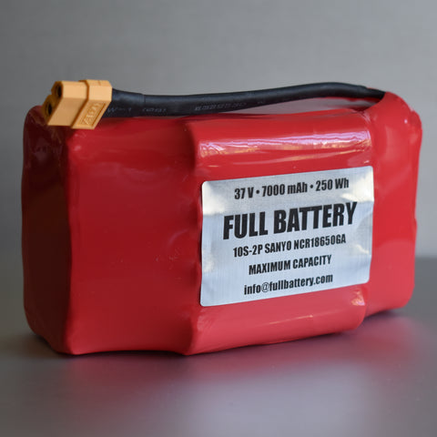 37V 7000mAh Lithium Battery Pack • 10s2p 18650 Li-Ion