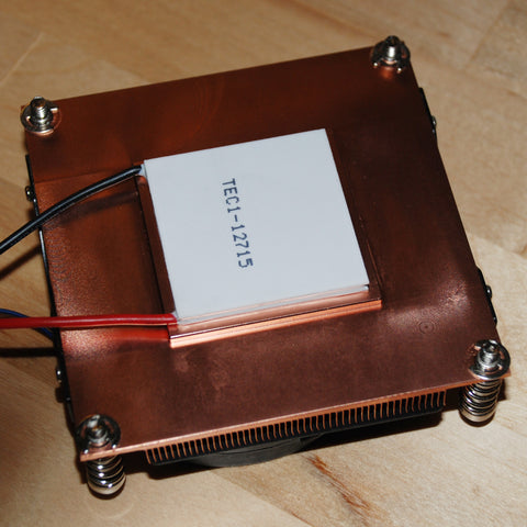 Solid Copper Turbo Fan Heatsink for LED / Peltier