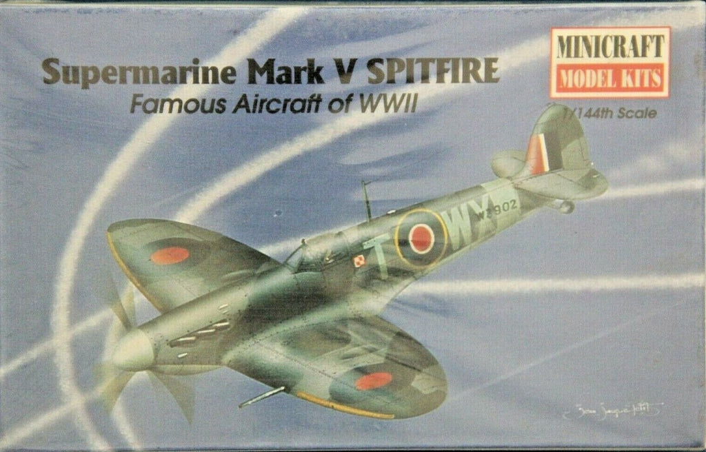 Minicraft Supermarine Mark V Spitfire 1/144th Model Kit
