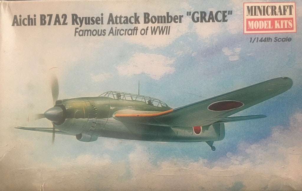"Minicraft Aichi B7A2 Ryusei Attack Bomber ""Grace"" 1/144th Model Kit"