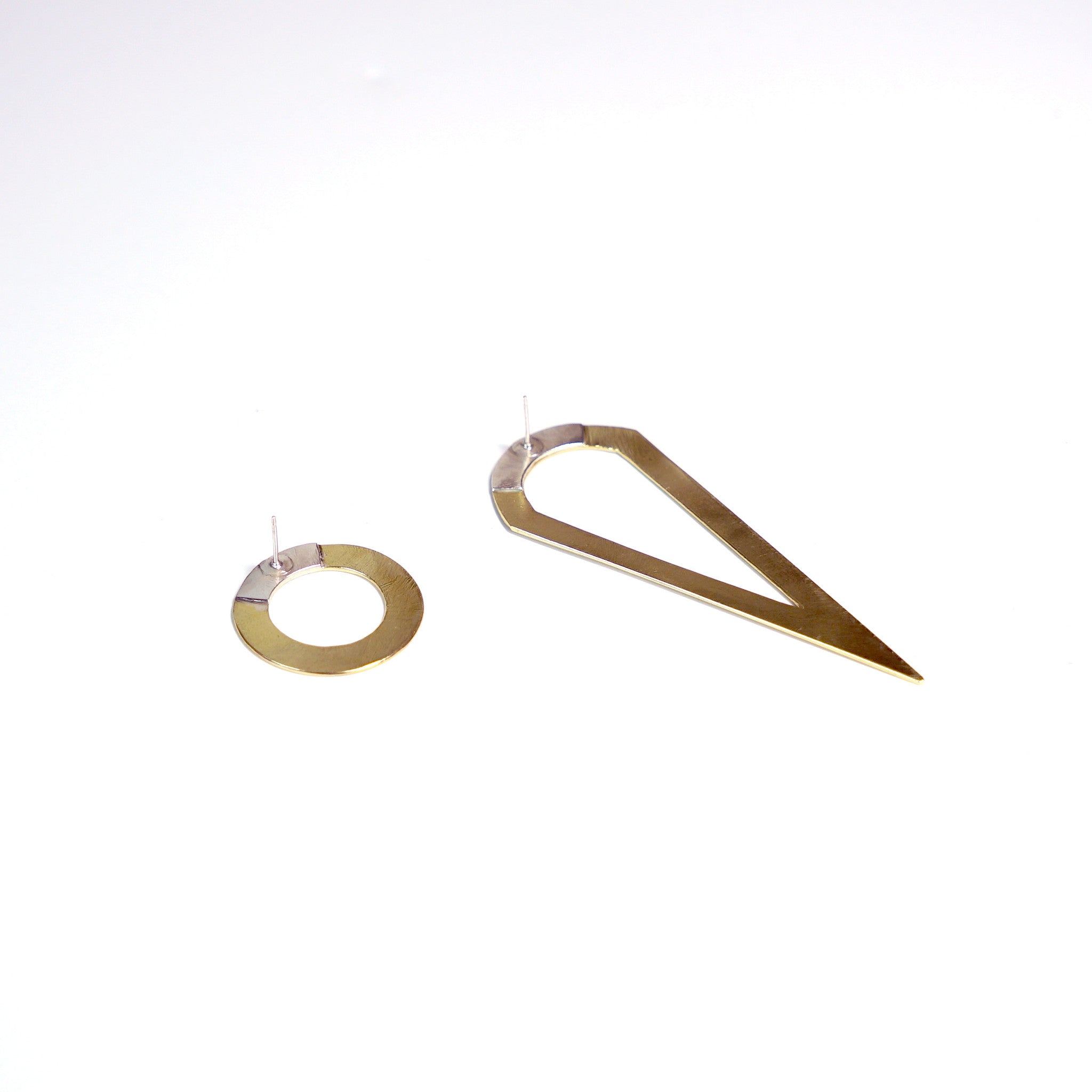 Asymmetrical Compass Earrings