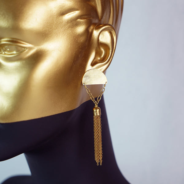 Diametric Tassel Earrings