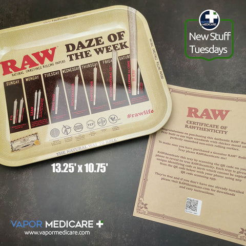Rawthentic Rolling Tray - Daze of the Week - Large 13.25' x 10.75'