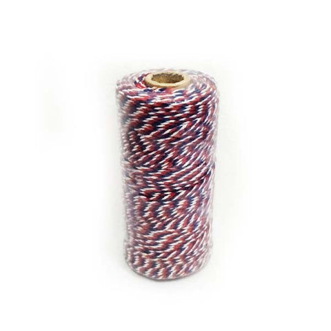 Baker's Twine ( Red, Blue and White )