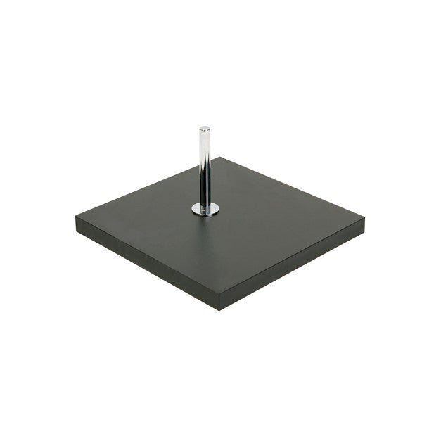 Base for torso or busts with spigot & 900 mm pole  350 mm Square B7602BK