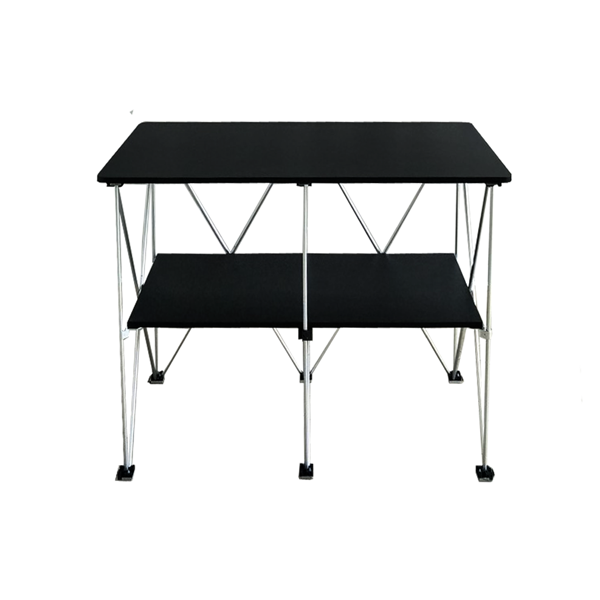 RENT Foldable Table with Black Table Cloth RENTTABLE