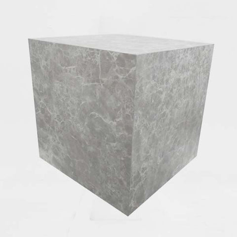 RENT Cube Large 500mm x 500mm x 500mm, Grey Marble Laminate
