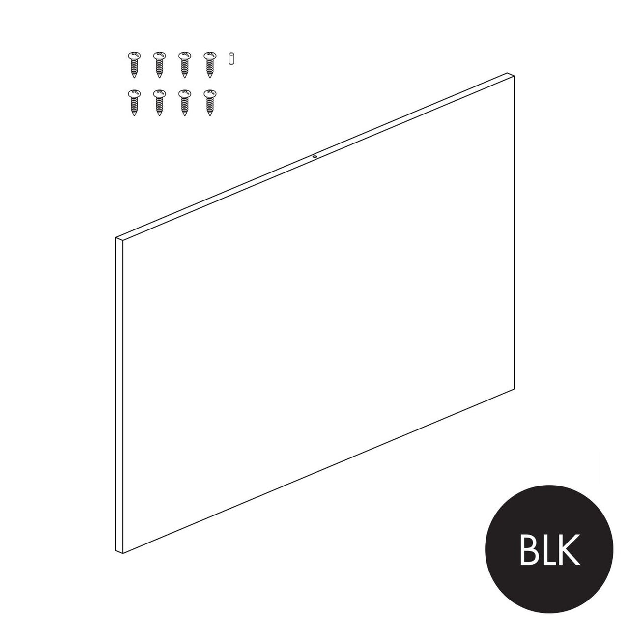 Peggie/MAXe plain panel for 900 bay - 560 mm H P1609