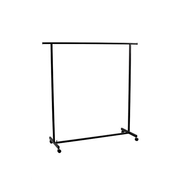 Classic Black Clothes Rack on Castors (1580 W x 1590 H x 510 mm D)