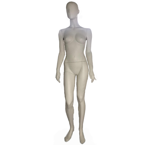 RENT Female EggHead Mannequin W16, Metal Square Base RENTBR3710WH