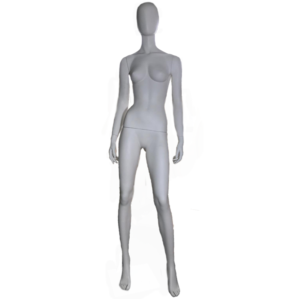 RENT Female Egghead Mannequin W20, Metal Square Base