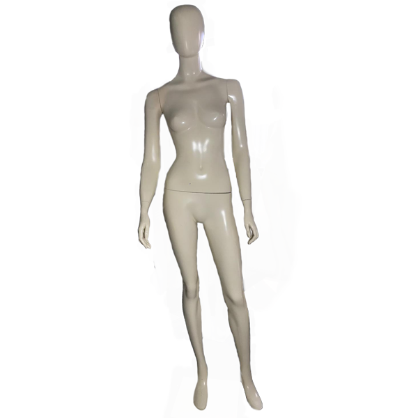 RENT Female Egghead Mannequin W23, Metal Square Base
