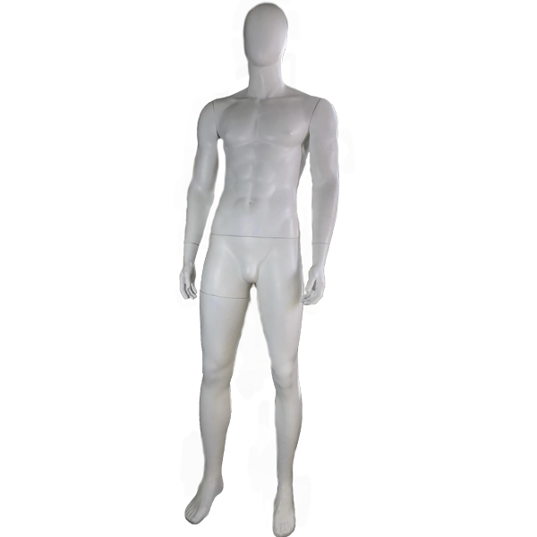 RENT Male Egghead Mannequin M8, Metal Square Base RENTBR3720WH
