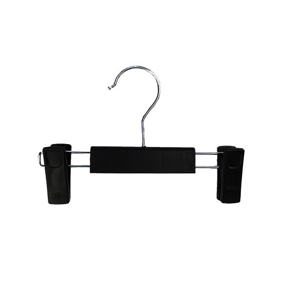 RENT Adjustable Black Clip Plastic Hanger 230mm