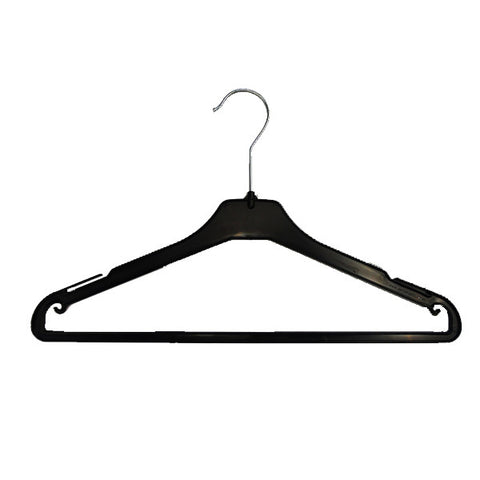 RENT Black Plastic Top Hanger With Rail