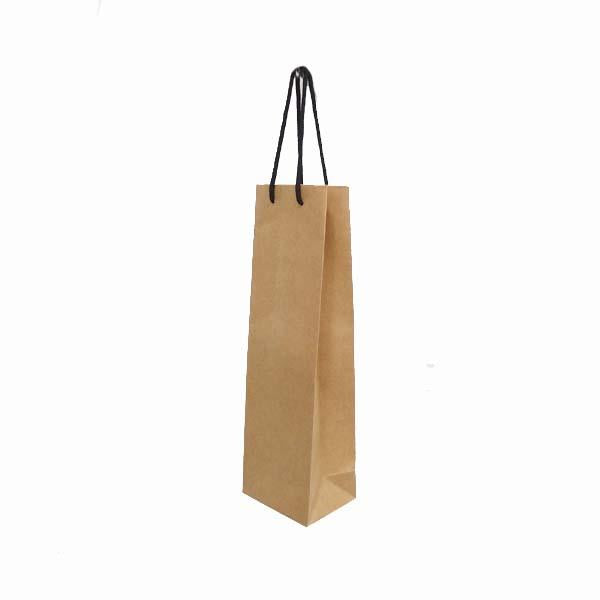 Paper Bag with Black Rope Handle 395X120X90mm Bottle