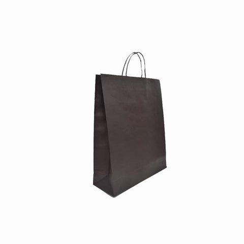Paper Bag Kraft Black 220X180X80mm Small