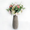RENT Susan Vase Tall with White and Dusty Pink Flower Arrangement