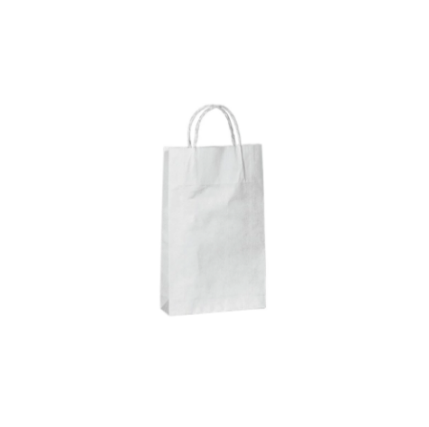 Kraft paper bag extra small with handle 160 W x 255 H x 50 mm G A8020