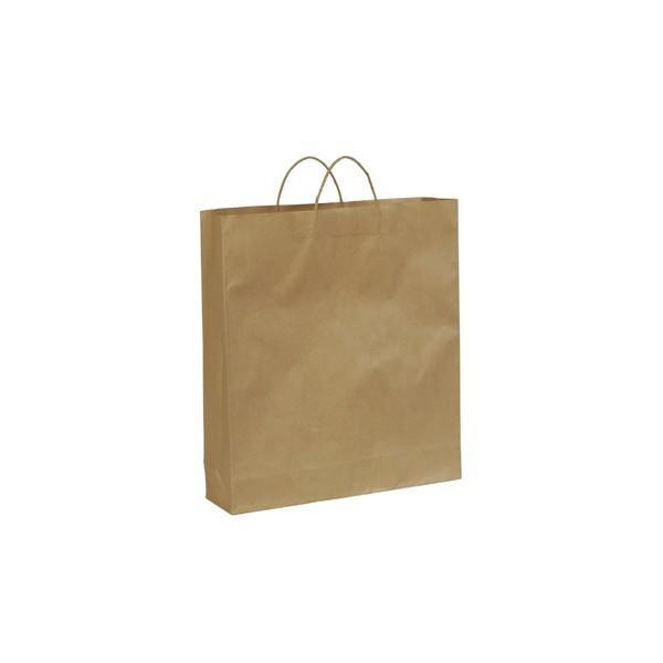 Kraft paper bag large with handle 450 W x 500 H x 125 mm G A8023