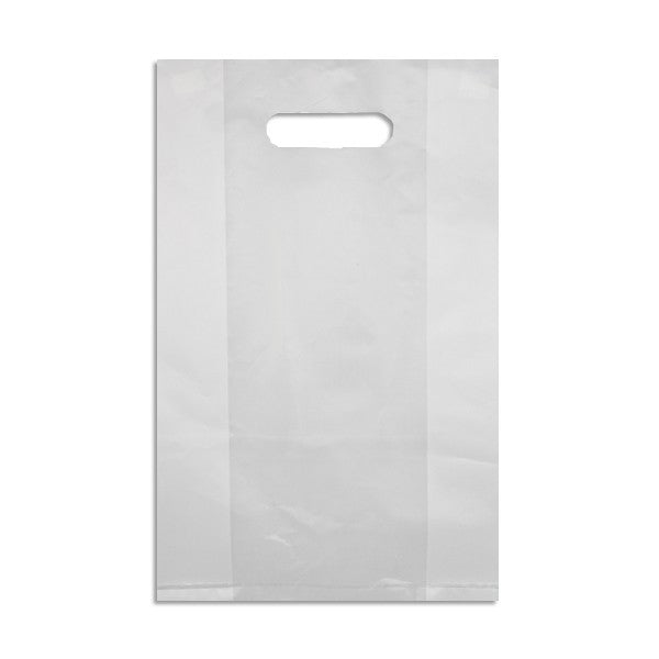 PUNCHED HANDLE HDPE PLASTIC BAG, SMALL 307 X 382MM