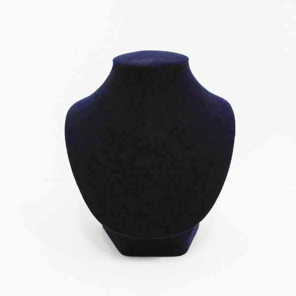 Rent Velvet Jewellery Bust Small Dark Blue RENTVELBUST3